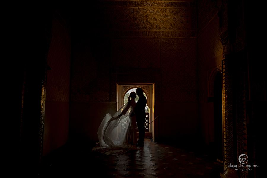 reportaje de postboda en la Alhambra